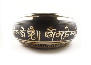 Tibetan Singing Bowl 9.5cm x 19.5cm (Traditional Design) - Gallery