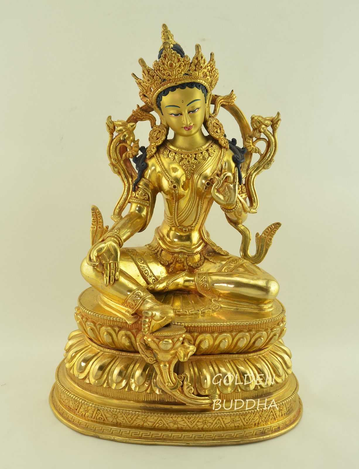 Green Tara - Buddha Poses - Protection Mudra